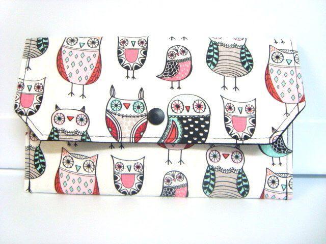 Cash Budget Envelope Coupon Organizer Receipt Holder Use for Dave Ramsey Budget System Sketched Owls