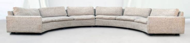 Milo Baughman Semi-Circular Party Sofa   From a unique collection of antique and modern sectional sofas at https://www.1stdibs.com/furniture/seating/sectional-sofas/