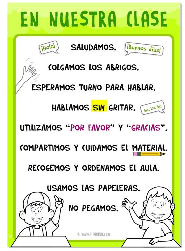 Reglas para la clase by @evapipo #clase #docentes #maestros #Educación #normas #teacher desde el Blog de Pipo