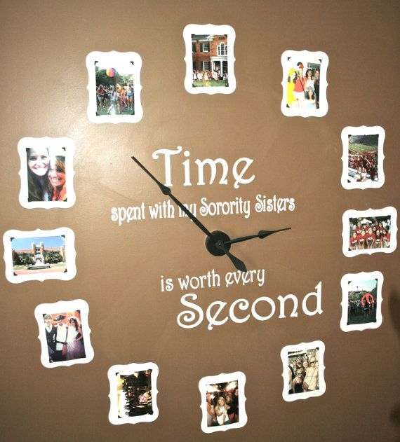 Large Sorority wall clock kit includes vinyl by mrsmo5 on Etsy, $74.99