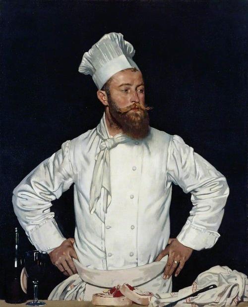 William Orpen (Irish, 1878-1931), Le Chef de l'Hôtel Chatham, Paris, c.1921. Oil on canvas. Royal Academy of Arts, London.