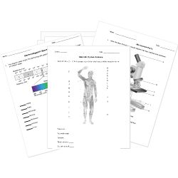 FREE High School Science Tests, Worksheets, and Activities from HelpTeaching.com - Biology, Chemistry, Earth Science, and Physics. Printable + Online.