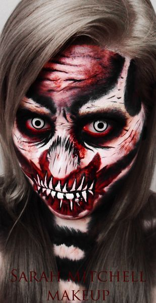 Zombie Skeleton...super scary Halloween Makeup ~~Make Money At Home~~ Get Paid Daily! $200 a day to post ads. Ask me how... workwithjoni247@gmail.com