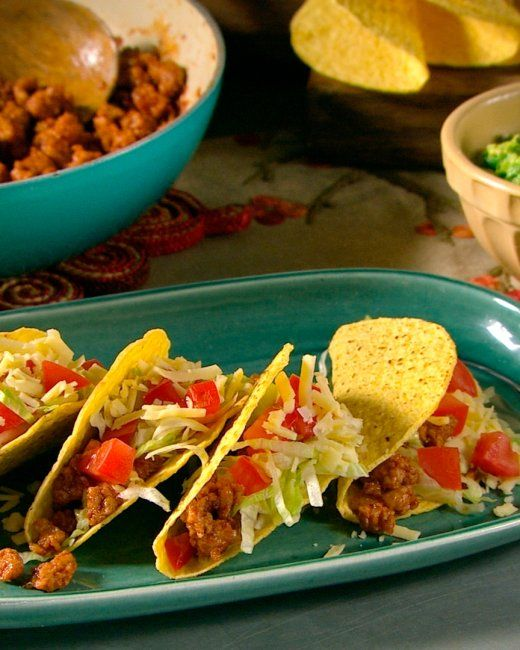 Ground Turkey Tacos. You could bypass all those seasonings & just add a taco seas packet to the ground turkey :)