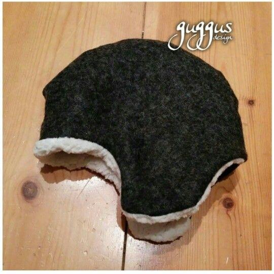 Mütze aus Schurwolle und Teddyfutter