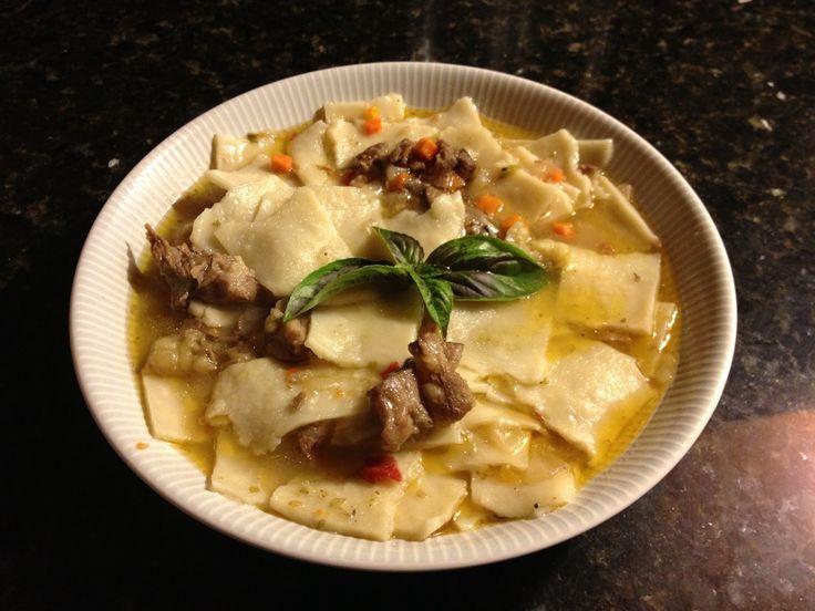 Chilean Dumplings soup Pantrucas | De Todo Mi Gusto: Celebrando el día de la cocina Chilena: Pantrucas