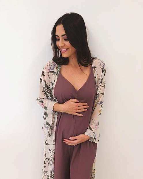 f96bdceaceec3 Light Dress und Kimono Umstandskleidung. Light Dress und Kimono  Umstandskleidung Maternity Clothes Spring, Summer Maternity Outfits, Cute  Pregnancy Outfits
