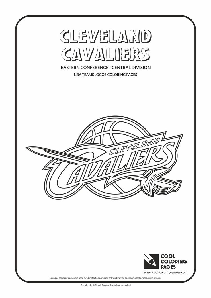 cool coloring pages nba teams logos cleveland cavaliers logo coloring page
