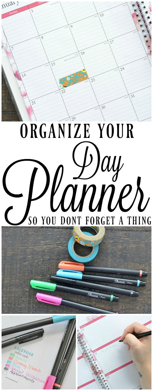 how to set up your day planner