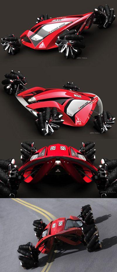 The Mitsubishi MMR525 concept is Mitsubishi's entrant into the annual LA Auto Show Design Challenge. For 2008 the brief was to design a machine for the year 2025.