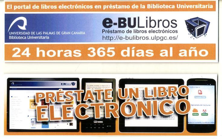 Marcador sobre el portal e-BULibros de la Biblioteca Universitaria.