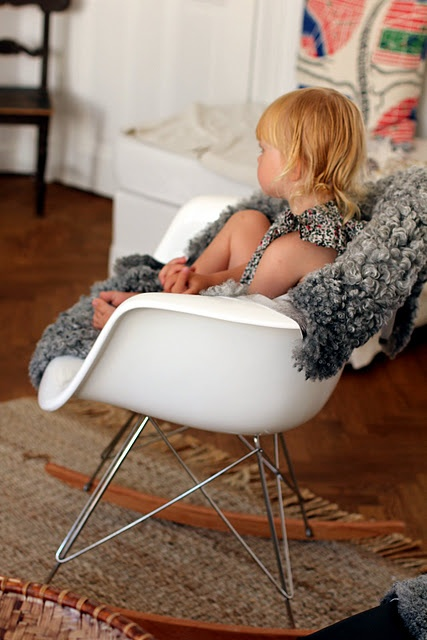 eames rocker office playroom modern industrial rocking chairs ...