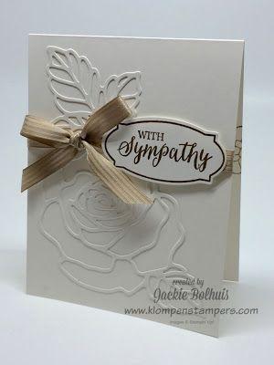 Klompen Stampers (Stampin 'Up Demonstrator Jackie Bolhuis!): Rose Wonder Card Serie - Karten # 3