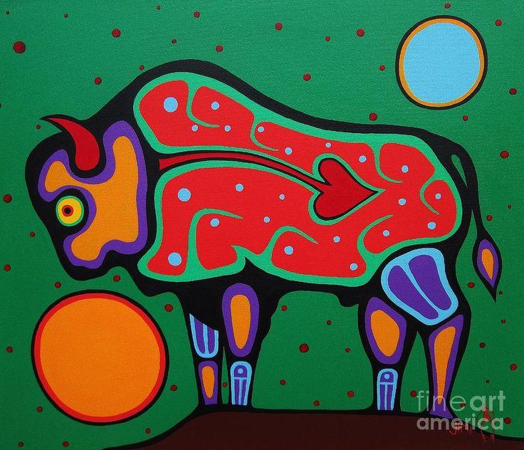Bison Painting - Jim Oskineegish