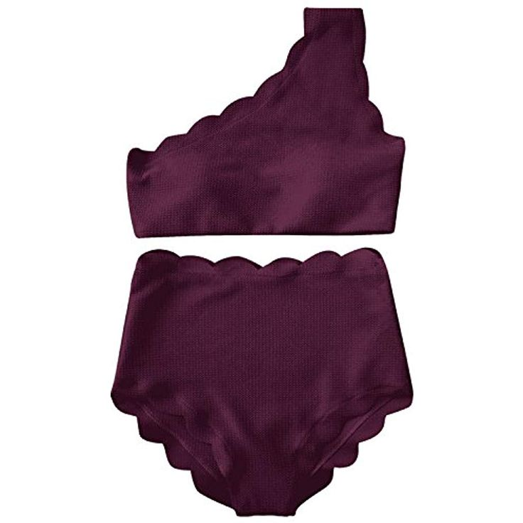 Water Princess Badeanzug mit hoher Taille zweiteiliges Bikini-Set gewellt Vintag…