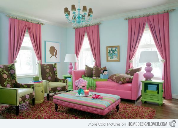 15 Pretty In Pink Living Room Designs Part 75