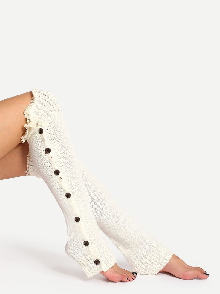 Shop White Lace Trim Open Toe Boot Socks online. SheIn offers White Lace Trim Open Toe Boot Socks & more to fit your fashionable needs.