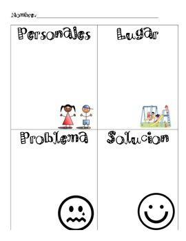 This document is a story map that includes characters, setting, problem and solution. Great to be used during ELAR, bilingual or dual language instruction.
