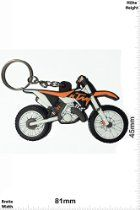 Keychains - KTM - Motocross black -orange - black - Car Motorcycle - Key Ring - Sport Skate extreme sports Streetwear - Kautschuk Rubber Keyring - perfect also bags, wallets or briefcase - Give away