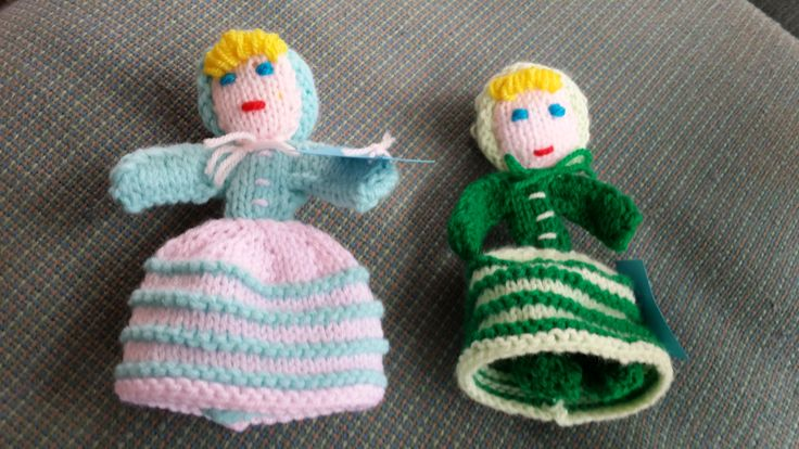 Tiny dolls all dressed up by Susan and Norma