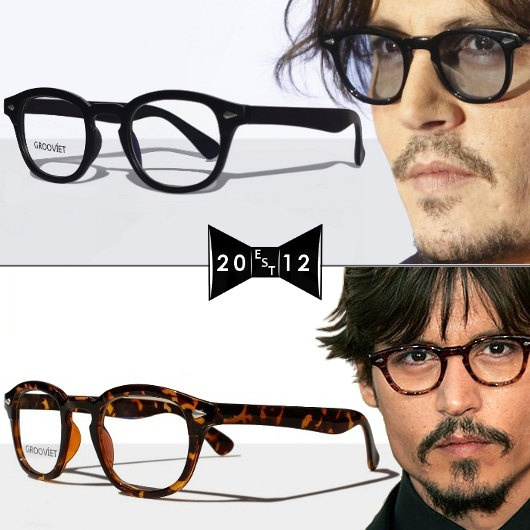 Glasses Frames Johnny Depp : Johnny Depp Vintage Glasses by Grooviet 2 pairs by ...