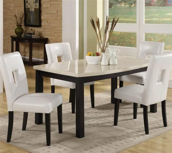 Black Modern Dining Room Sets best 25+ faux marble dining table ideas on pinterest | refurbished