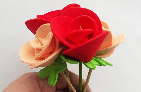 Cómo hacer una rosa con #GOMAEVA #MWMaterialsWorld