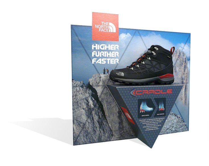 Pubblimarket2 pop pos footwear display The North Face®