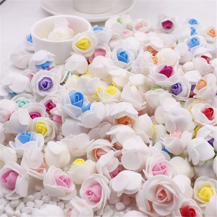 10 pcs/lot mini pe foam rose flower kepala buatan bunga mawar buatan tangan diy pernikahan dekorasi rumah meriah & party supplies