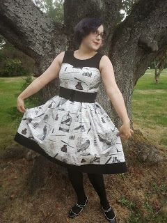 Poe inspired dress with black details. Confessions of a Stitch Witch