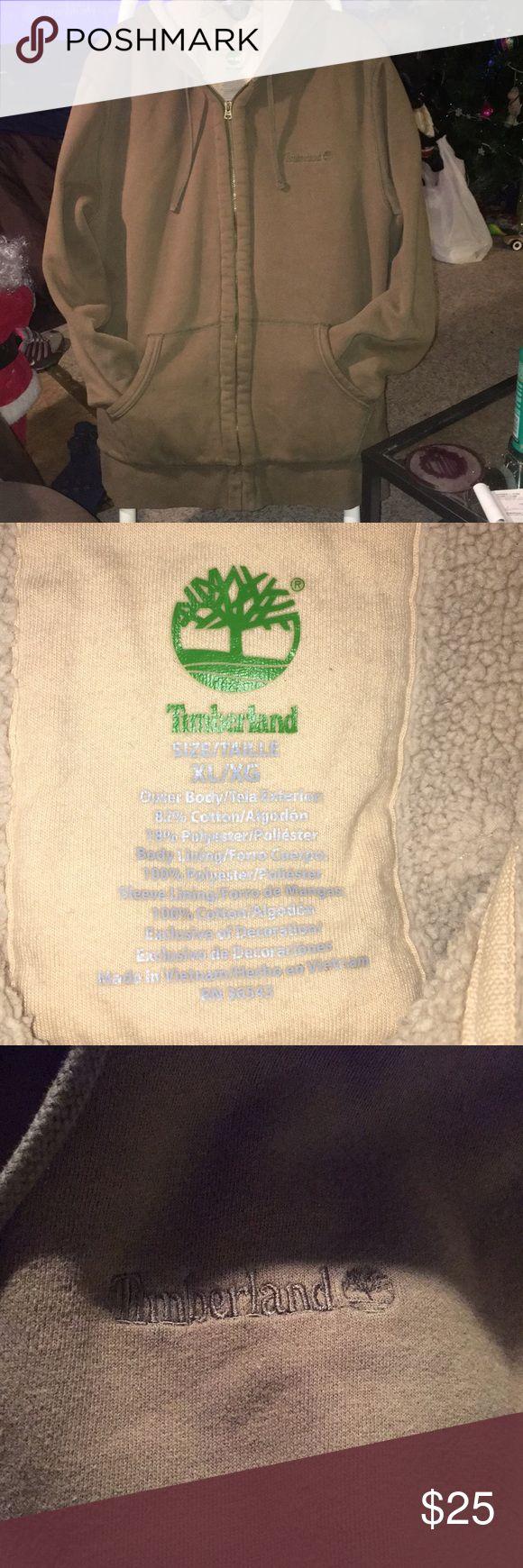 ❤️TIMBERLAND HOODIE Gently used really nice Sherpa lines super warm Timberland Shirts Sweatshirts & Hoodies