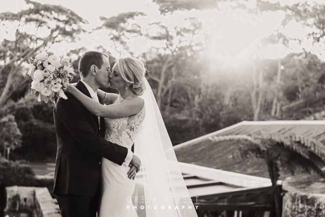 Sunset Wedding Photos from Georges Heights Lookout