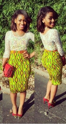 Ankara with lace