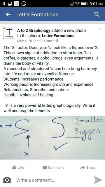 Handwriting Analysis Letter A Lowercase
