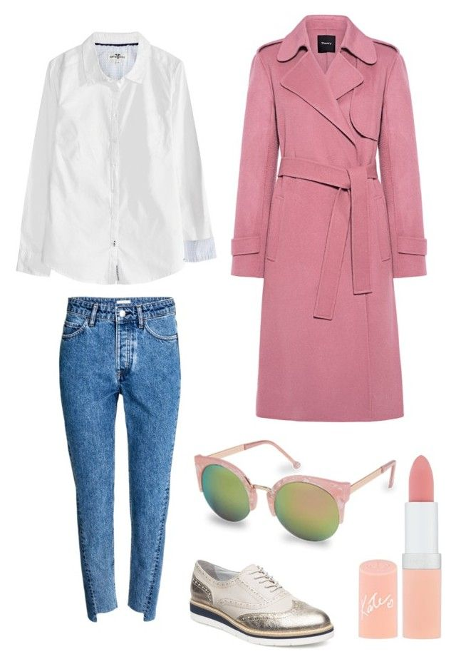 """""""Untitled #177"""" by stinasolheim on Polyvore featuring Theory, H&M, Tamaris and Rimmel"""