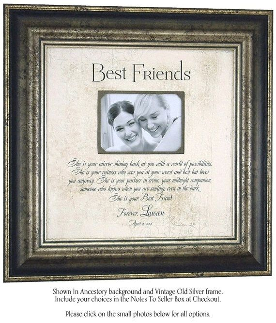 She Is Your Mirror Personalized Picture Frame gift for Best Friend Sister Maid O fHonor by PhotoFrameOriginals