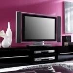 Meuble TV design noir laqué Cavalli 175 cm : un banc TV à votre mesure !