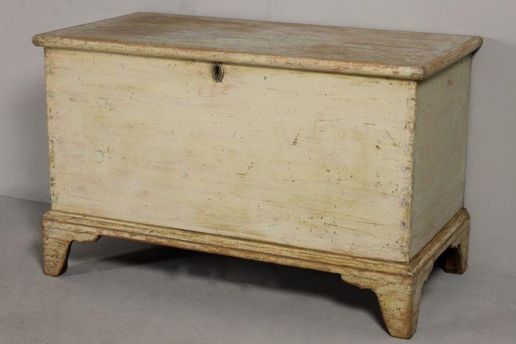 George III Original Painted Pine Blanket Box