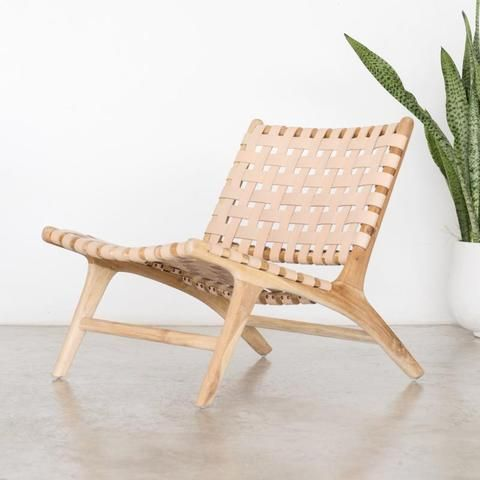 Best Blush Leather And Wood Chair Bali Furniture Leather 400 x 300