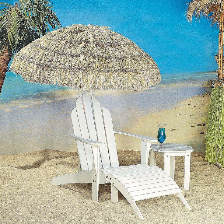 Natural Beach Umbrellas   OrientalTrading.com