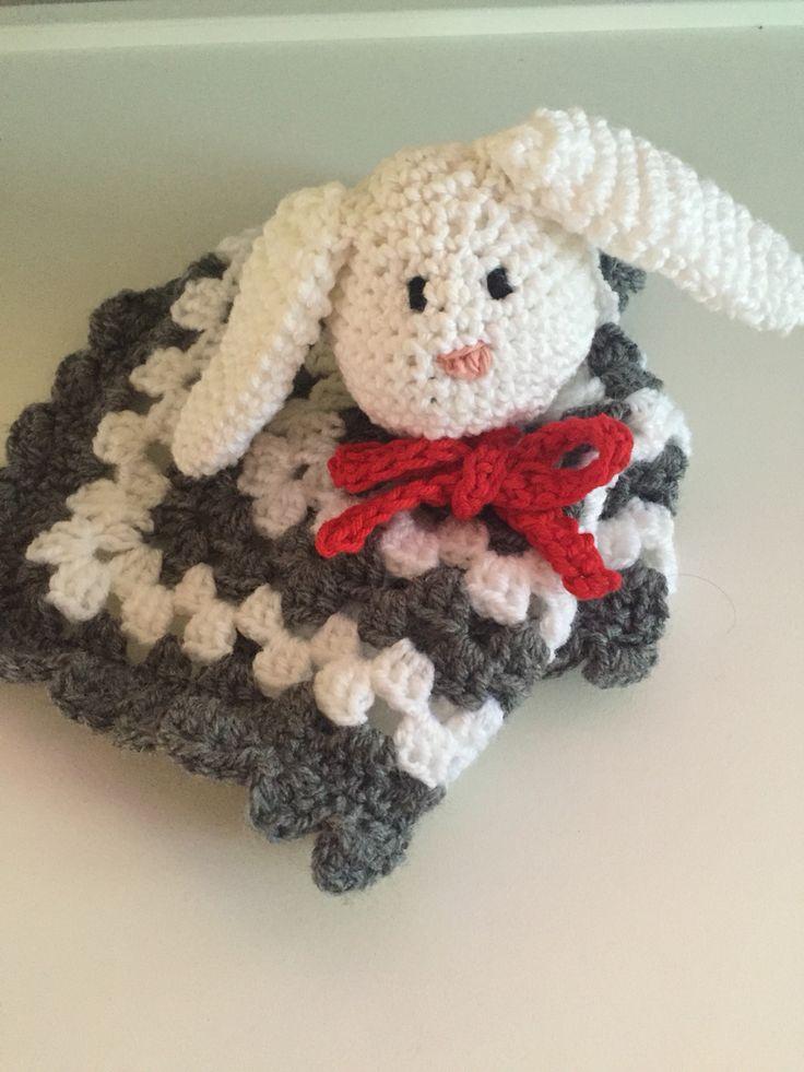 Snuttefilt #kanin #virkad #crochet #snutte #blanket #filt