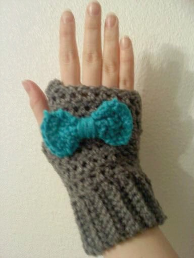 Crocheted fingerless gloves by HookdCustomCrochet on Etsy, $12.00