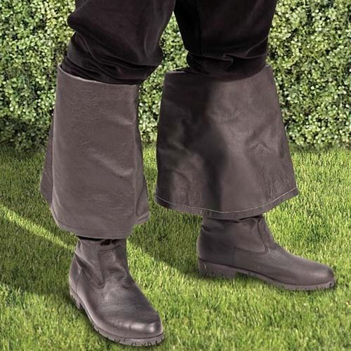 "A soft, stylish all purpose period boot made of genuine black leather. Large fold-over cuff can be worn up or down. All rubber non-slip soles and heel.   <a href=""http://store.pearsonsrenaissanceshoppe.com/rbsizechart.html"">Size Chart</a>"