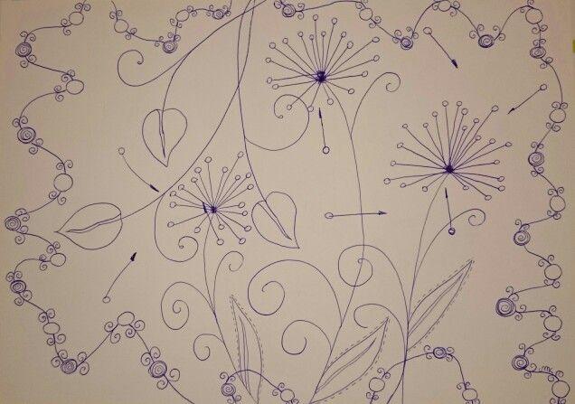 Zentangle dandelions