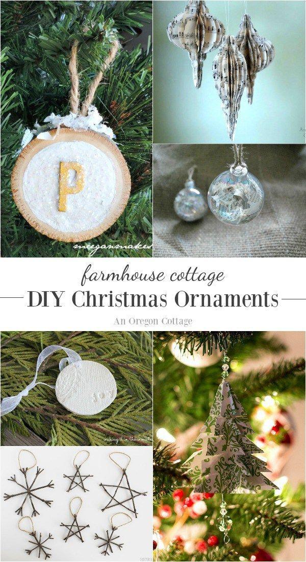 Farmhouse cottage diy christmas ornaments diy christmas for Diy christmas ornaments with pictures
