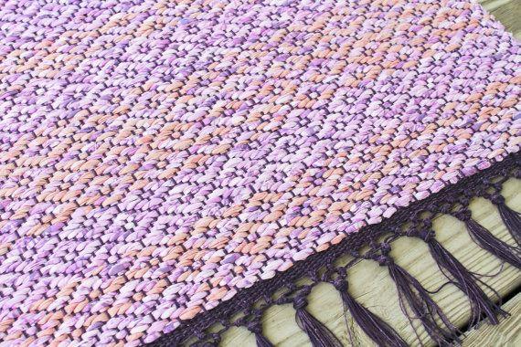 Hand geweven doek deken, 29 x 56, Diamond Design katoen tapijt, keuken Rag…