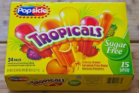 my favorite always well stocked Popsicle Tropicals Sugar Free Popsicles
