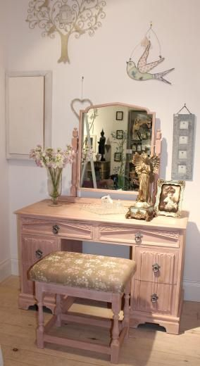 Vintage Art Deco Painted Dressing Table & Stool in Antoinette from Concept Home Accessories in Middlesborough, Cleveland in England