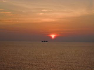 Beautiful colours from around the world: the red's and orange's of a sunset at sea: South China Sea http://www.leavingcairo.com/2013/09/capture-colour-various-from-around-world.html