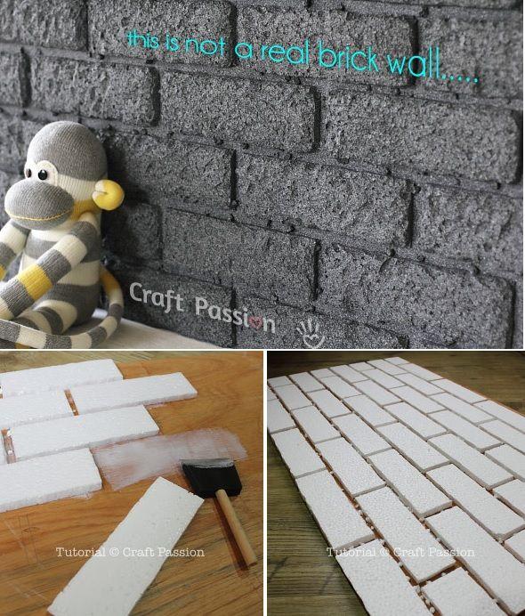 Les 25 meilleures id es de la cat gorie faux murs en - Faux mur brique ...